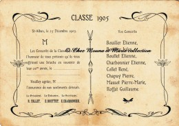 SAINT ST ALBAN LES EAUX - CONSCRITS CLASSE 1905 - LOIRE 42 - CARTE PLIEE FANTAISIE - Publicités