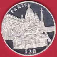 Libéria - 20 $ Argent - Paris 2000 - FDC - Liberia