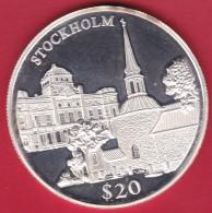 Libéria - 20 $ Argent - Stockholm 2000 - FDC - Liberia