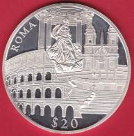 Libéria - 20 $ Argent - Rome 2000 - FDC - Liberia