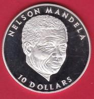 Libéria - 10 $ Argent - Nelson Mandela - 2001 - FDC - Liberia