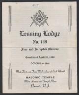 FRANC MACONNERIE - MASONIC / 1968 USA DOCUMENT ILLUSTRE DE 4 PAGES (ref 2752) - Religion & Esotérisme