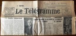 """VIEUX-PAPIERS DIVERS- JOURNAL """"LE TÉLÉGRAMME"""" OCTOBRE 1931- ÉDITION DE L'AUDE- 4 SCANS - Zeitungen"""