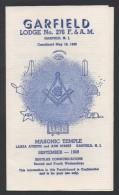 FRANC MACONNERIE - MASONIC / 1969 USA DOCUMENT ILLUSTRE 3 VOLETS (ref 3205) - Religion & Esotérisme
