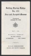 FRANC MACONNERIE - MASONIC / 1974 USA DOCUMENT ILLUSTRE 4 VOLETS (ref 3496) - Religion & Esotérisme