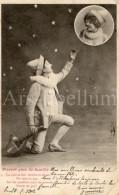 CPA / Postcard / Pierrot / Père De Famille / Ed. Phototypie A. Bergeret / 1902 - Bergeret
