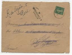 """1918 - ENVELOPPE Pour La BELGIQUE (HAINAUT) Avec RETOUR  """"DESTINATION INACCESSIBLE"""" => ENGHIEN - Marcophilie (Lettres)"""