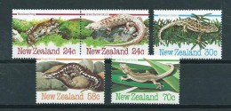 1984 New Zealand Complete Set Reptiles MNH/Postfris/Neuf Sans Charniere - Nouvelle-Zélande