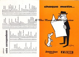 L ECHO - CHAQUE MATIN DERNIERE HEURE LYONNAISE - 1966 - CALENDRIER - Calendars