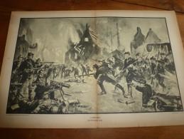 La BATAILLE  De DIXMUDE Du 25 Octobre 1914 Illustrée Par Fernand Lantoine  (dimension Du Document = 50cm X 33cm - Documents