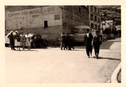 "Photo Originale Voiture - Propagande "" Espagna Una Grande Libre "" Autos Et Autocar Agence Laffitte Arreau - 65240 - Automobiles"
