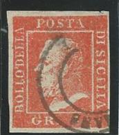 ITALIE-ANCIENS ETATS: Deux Sicile: Obl., N°21, Aminci, FAUX, B - Sicile