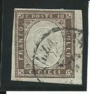 ITALIE:ANCIENS-ETATS: SARDAIGNE: Obl., N°11b, Brun-gris, TB - Sardaigne