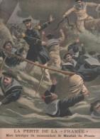 LE PETIT JOURNAL 2 09 1900 - NAUFRAGE CONTRE TORPILLEUR LA FRAMEE - PAVILLON DU MEXIQUE - DEFENDUE PAR CHIEN A PUTEAUX - Le Petit Journal