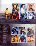 Great Britain 2015 Star Wars Characters Two Panes Ex Prestige Bookled 12 Val - 1952-.... (Elisabetta II)
