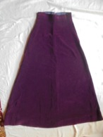Vintage - Jupe Longue En Velours Couleur Prune Pour Jeune Fille Confection Artisanale Année 1974 - Vintage Clothes & Linen