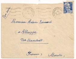 RARE UTILISATION 15 GANDON Au MAROC, MARRAKECH GUELIZ, 1955. - Marcophilie (Lettres)
