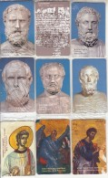 GREECE(chip) - Set Of 26 Cards, Greek Scholars, Tirage 40000, 09/01, Mint - Grèce