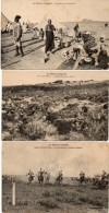 3 CPA - Sénégalais Au Campement - Les Mitrailleuses Au Combat - Courses Indigènes  -   (88025) - Maroc