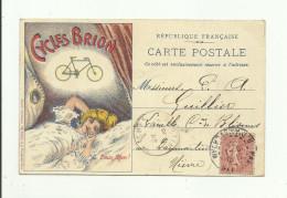 """CPA :CYCLES BRION """"MANUFACTURE DE MACHINES À COUDRE & CYCLES""""E.BRION FRÈRES-BONNET & MOREL MALAKOFF (92) ÉCRITE - Malakoff"""