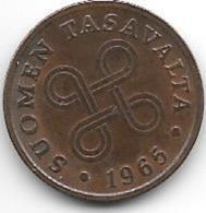 *finland 1 Penni 1965  Km 44  Unc - Finlande
