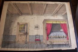 Imagerie D´épinal ,n°1640 ,grand Théâtre Nouveau ,fond De Chambre Rustique - Vieux Papiers