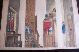 Imagerie D´épinal ,n°1643 ,grand Théâtre Nouveau ,coulisses De La Cuisine Rustique - Vieux Papiers