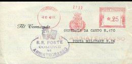 9613 Italia,  Red Meter Freistempel EMA 1942 Abbiategrasso Comune Di Abbiategrasso, Circuled Cover - Affrancature Meccaniche Rosse (EMA)