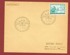 Antarctica 8/10/1966 Liège Continent De Paix Et De Science (bureau Temporaire) - Autres