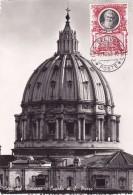 VATICAN @ Carte Maximum De 1953 @ Cita Del Vaticano - Cupola Di San Pietro - Maximumkaarten