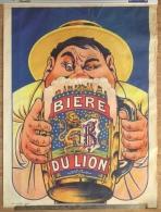 """Rare Ancienne Affiche """"Biere Du Lion"""" Brasserie Richard Frères, Ivry-sur-Seine - Posters"""