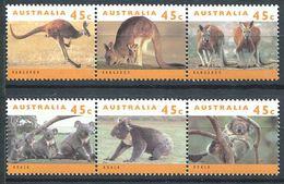 165 AUSTRALIE 1994 - Yvert 1362/67 - Koala Kangourou - Neuf ** (MNH) Sans Trace De Charniere - 1990-99 Elizabeth II