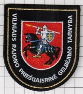 Ecusson / Patch / Toppa / Parche. Lithuania.  Europe. EU. Fireman. Coat Of Arms Of The Vilnius Region . - Firemen