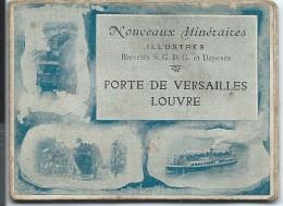 OMNIBUS / Ligne AG /Paris/ Nouveaux Itinéraires Illustrés/ Porte De Versailles -Louvre/Vers 1885-1895   TRA23 - Transports