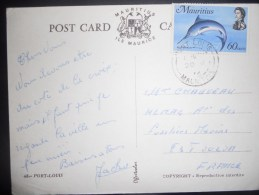 Maurice , Carte De Port Louis 1972 Pour Toulon - Mauricio (1968-...)