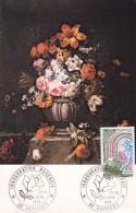 FRANCE @ Carte Maximum De 1978 @ Inauguration Roseraie Poitiers @ Fleurs - Cartoline Maximum