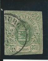 LUXEMBOURG: Obl., N°10, Aminci, AB - 1859-1880 Wappen & Heraldik