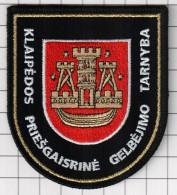 Ecusson / Patch / Toppa / Parche. Lithuania.  Europe. EU. Fireman. City Klaipeda.  Ministry Of Emergency Measures - Firemen