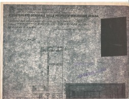 PV54/56---  DISEGNO TECNICO PER ACCERTASMENTO GENERALE DELLA PROPRIETA' IMMOBILIARE URBANA, PIEDIMONTE D'ALIFE, - Opere Pubbliche