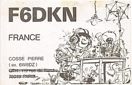 CARTE - RADIO - QSL - PARIS - 19è - VOISINS LE BRETONNEUX - GASTON - - Radio-amateur
