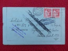 TIMBRE TYPE PAIX GRIFFE ROULETTE CACHET LE DESTINATAIRE JAMAIS OUVERTE 1940 - Storia Postale