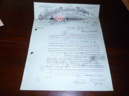 LC160 FF5 Courrier Comptoir Charbons Belges Lodelinsart 1916 - Bélgica