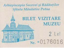 Romania Bukowina Putna Monastery - Entry Ticket - Tickets - Entradas