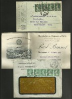 """Lot Facture + Carte / Entete Commerciale """" MANUFACTURE CHAPEAUX PAILLE - P.BONNET à MONTBRISSON - LOIRE - Marcophilie (Lettres)"""