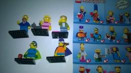 The SIMPSONS Minifigures LEGO 5 Pez Diversi Figurine - Figurine