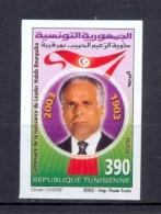 Tunisia/Tunisie 2003 - Imperforated Stamp - Centenary Of Leader Habib Bourguiba (1903-2003) - Tunisia