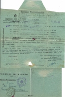 BIGLIETTO LUOGOTENENZA POSTA MILITARE 225 1945 BOLOGNA X BONDENO NOTIZIA DECESSO EROE - 5. 1944-46 Lieutenance & Umberto II