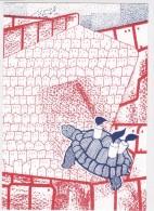 CARD TARTARUGA-TORTUE  FIRMA GINETTE LITT-V-2-0882-25377-378 - Tortugas