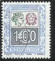 ITALIA REPUBBLICA ITALY REPUBLIC 2004 2005 ALTI VALORI HIGHT VALUES € 1,00 USATO USED OBLITERE´ - 2001-10: Used