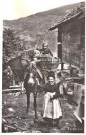 """En Valais  """" Ane Chargé De Paniers """" - Costumes"""
